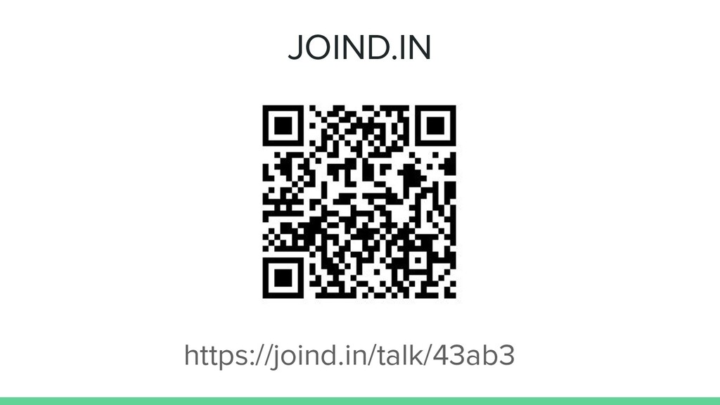 JOIND.IN https://joind.in/talk/43ab3