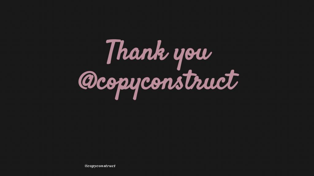 Thank you @copyconstruct @copyconstruct