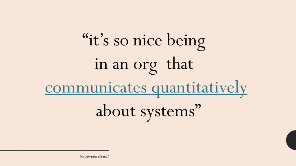 """""""it's so nice being in an org that communicates..."""