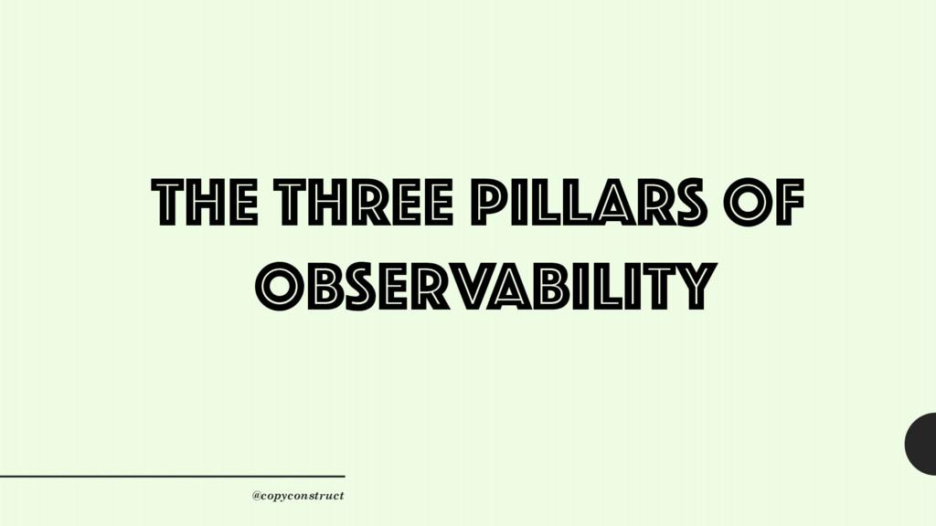 The Three Pillars of Observability @copyconstru...