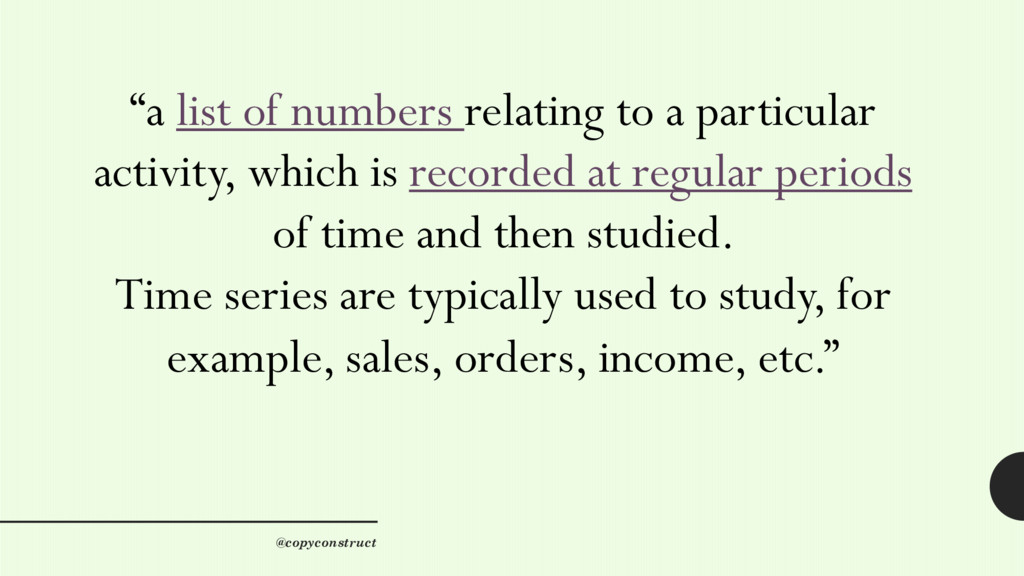"""""""a list of numbers relating to a particular act..."""