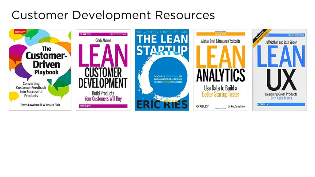Customer Development Resources