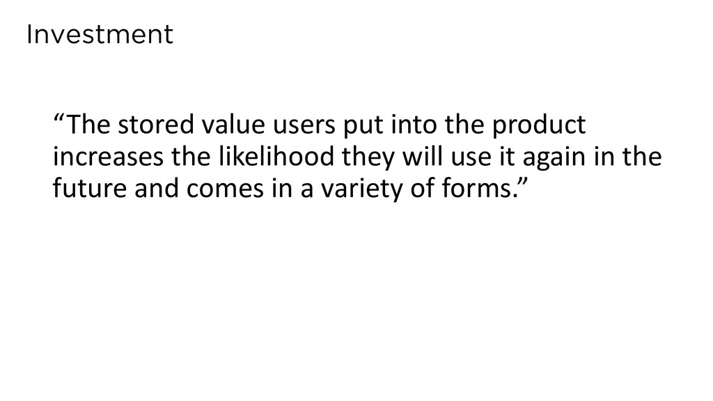 """Investment """"The stored value users put into the..."""