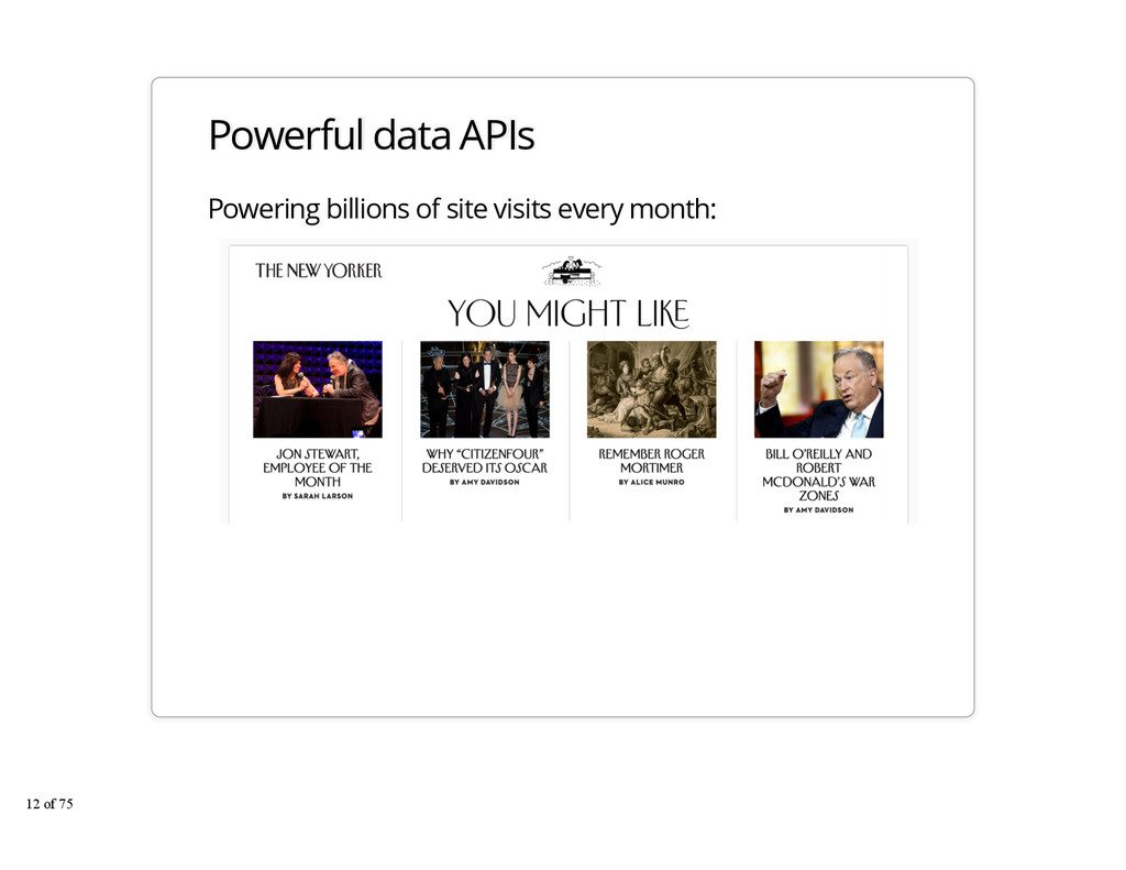 Powerful data APIs Powering billions of site vi...
