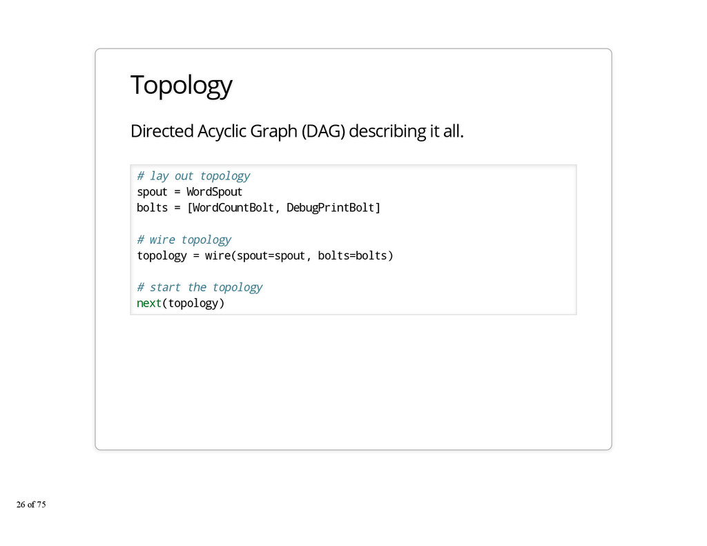 Topology Directed Acyclic Graph (DAG) describin...