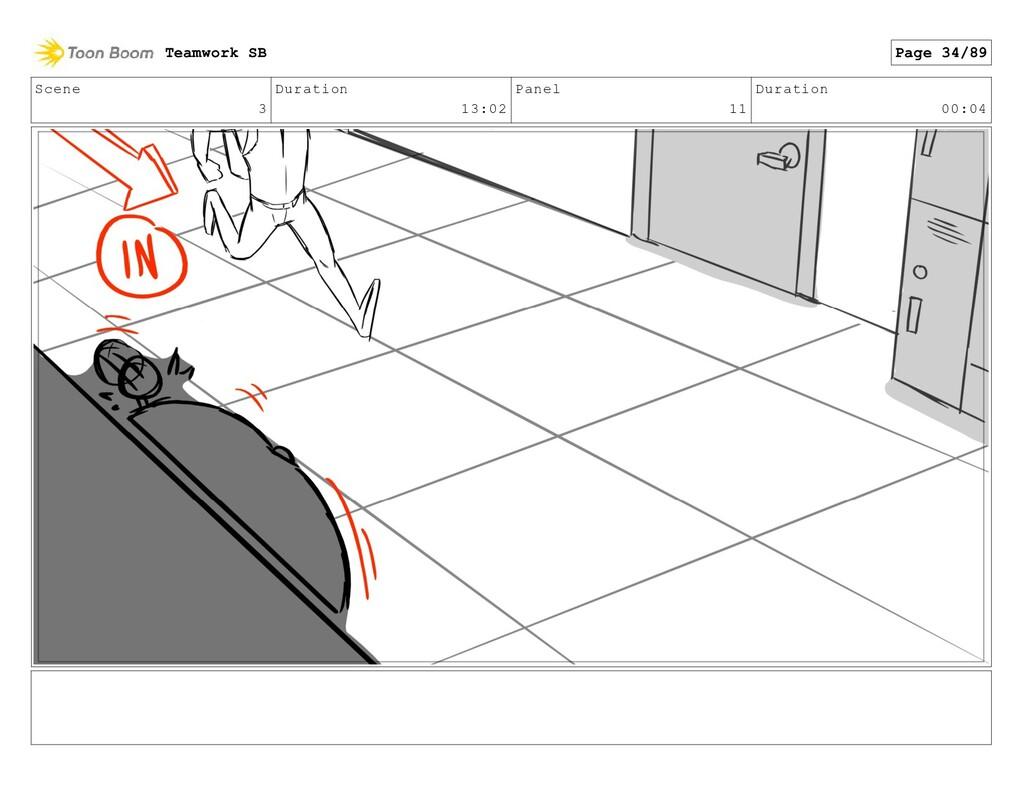 Scene 3 Duration 13:02 Panel 11 Duration 00:04 ...