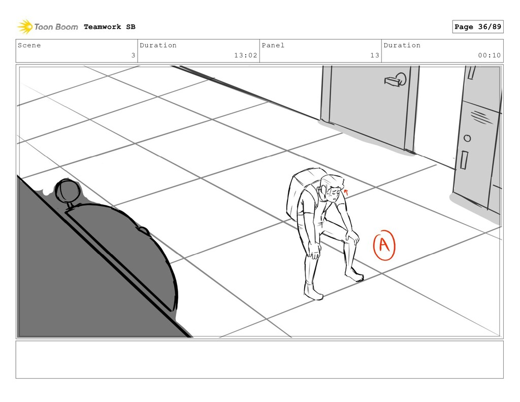 Scene 3 Duration 13:02 Panel 13 Duration 00:10 ...