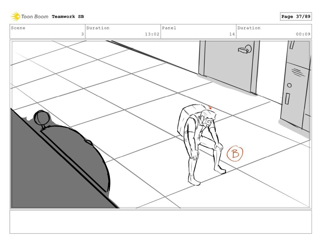 Scene 3 Duration 13:02 Panel 14 Duration 00:09 ...