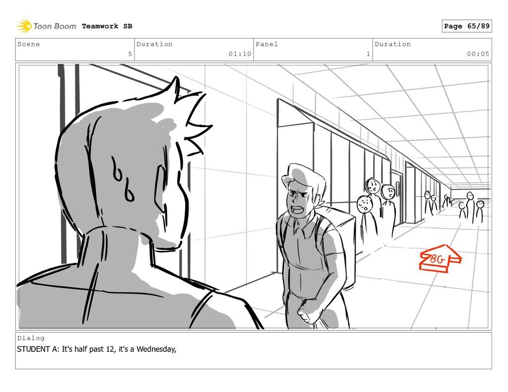 Scene 5 Duration 01:10 Panel 1 Duration 00:05 D...