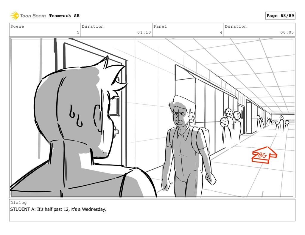 Scene 5 Duration 01:10 Panel 4 Duration 00:05 D...