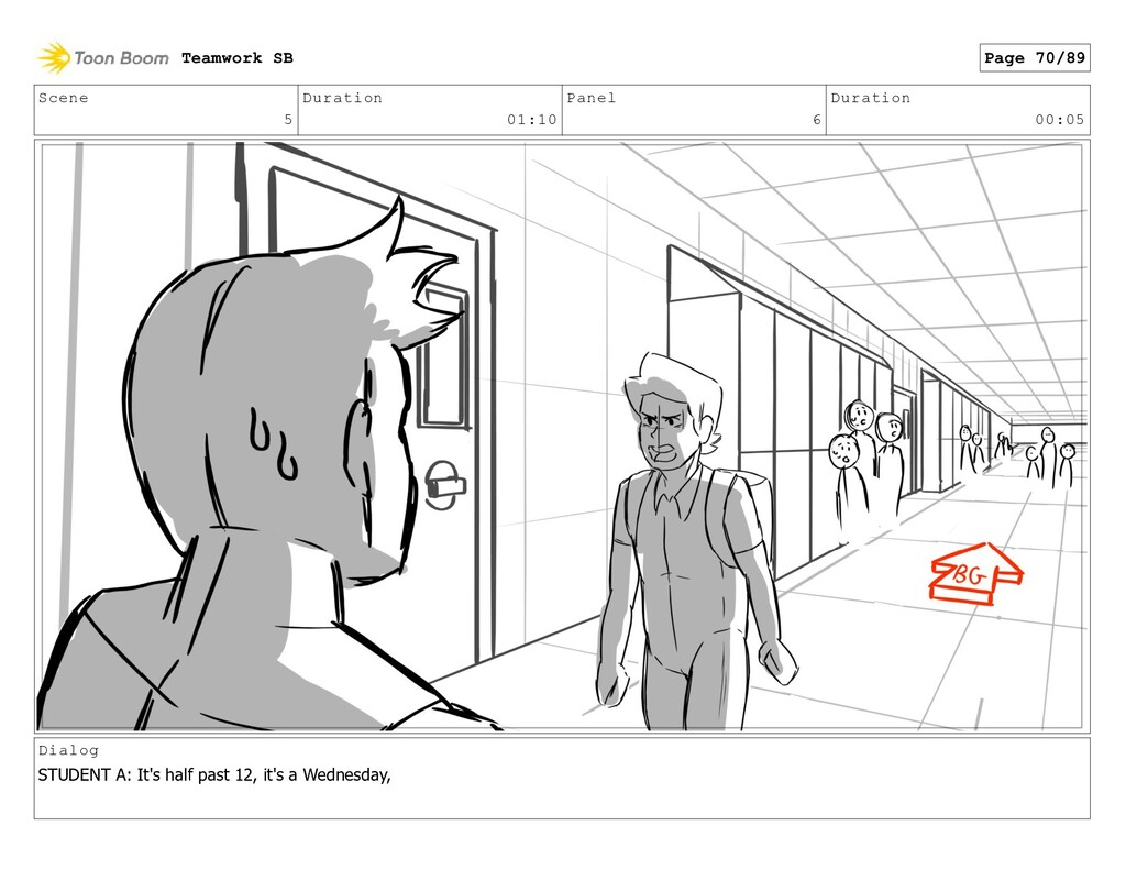 Scene 5 Duration 01:10 Panel 6 Duration 00:05 D...