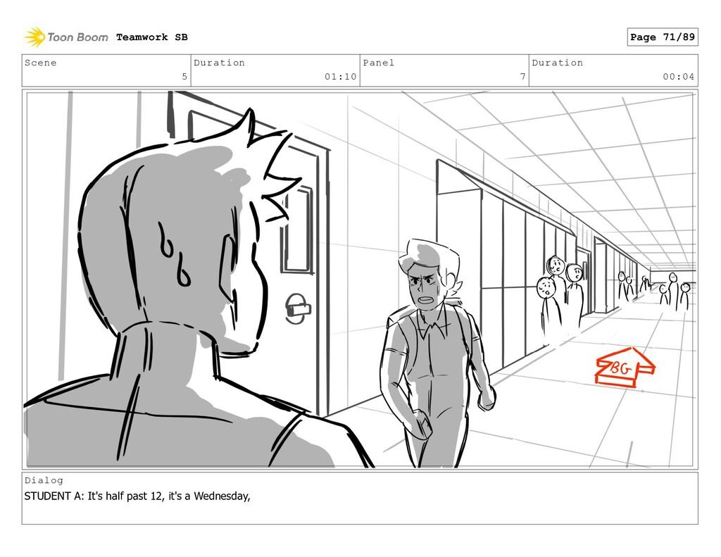 Scene 5 Duration 01:10 Panel 7 Duration 00:04 D...