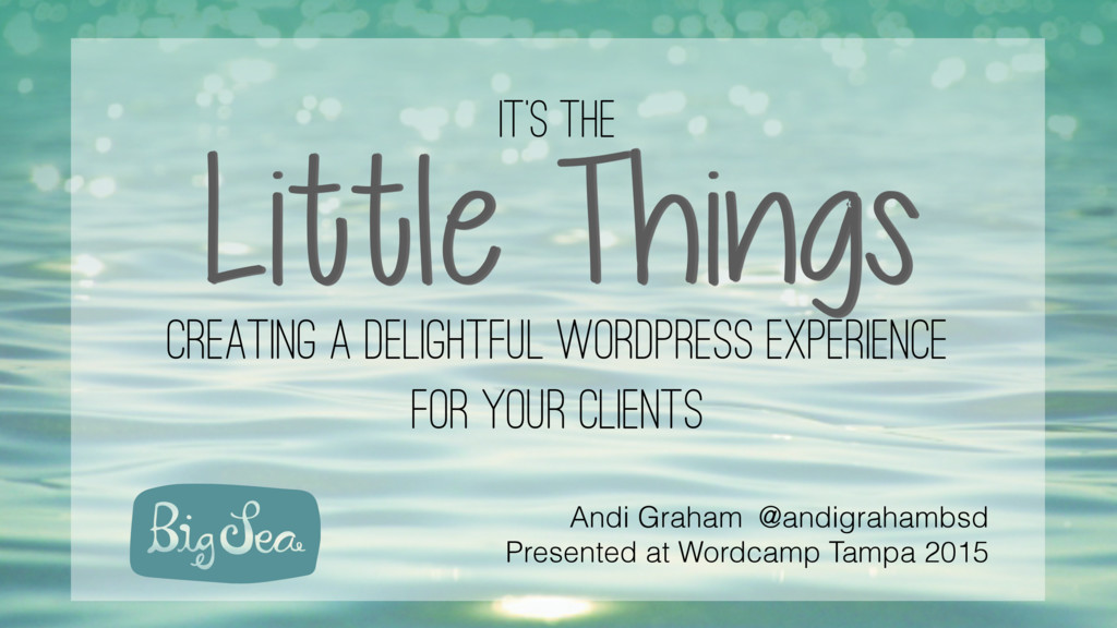 It's the Little Things creating a delightful wo...