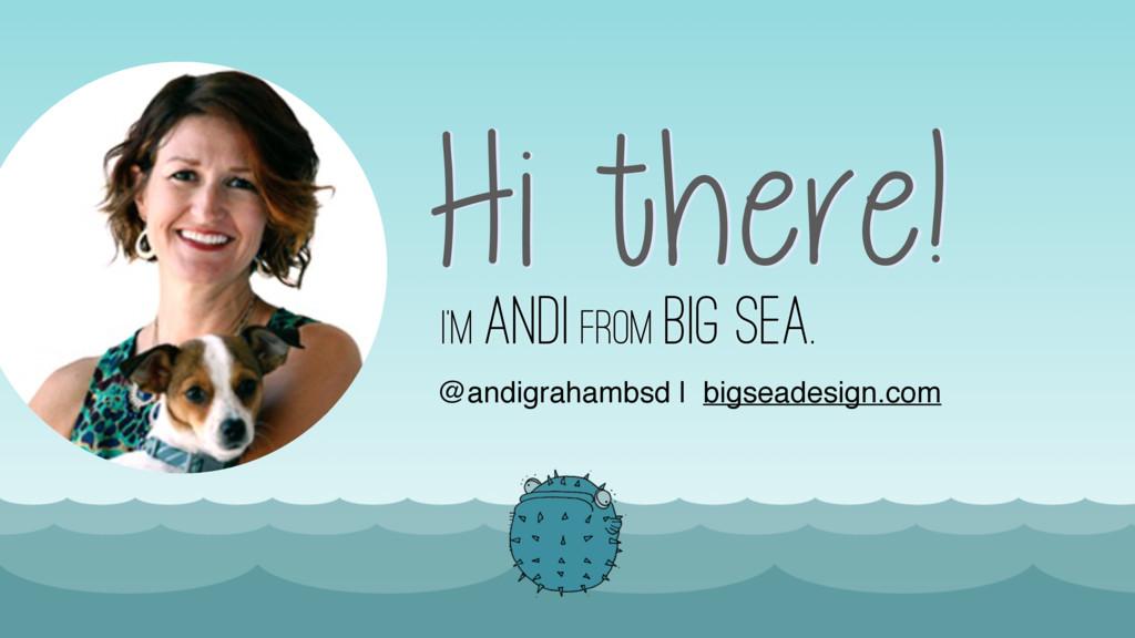 I'm Andi from Big Sea. @andigrahambsd | bigsead...