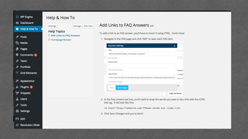 Help & How-to's bsea.co/wp-help-plugin
