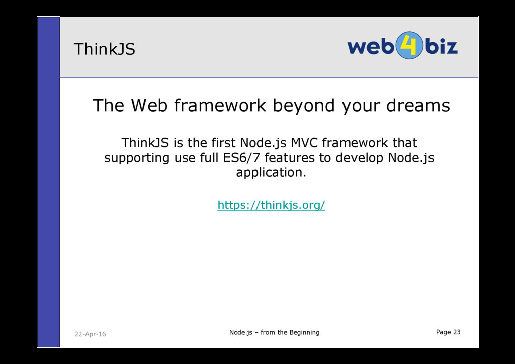 Page 23 The Web framework beyond your dreams Th...