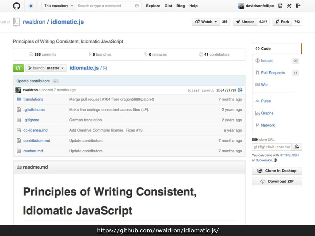 https://github.com/rwaldron/idiomatic.js/