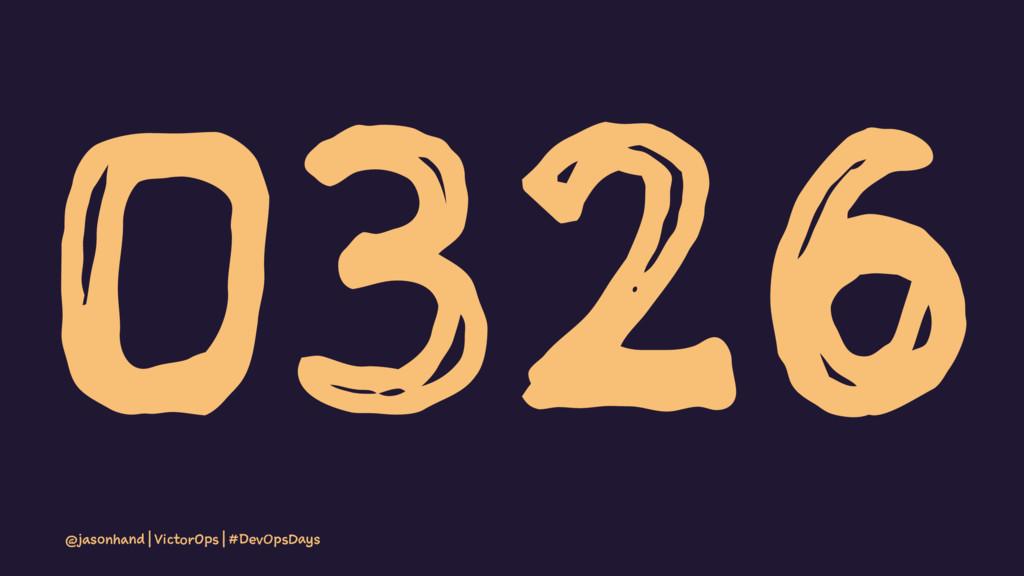 0326 @jasonhand | VictorOps | #DevOpsDays