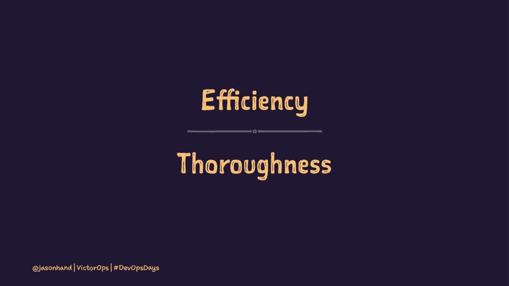 Efficiency Thoroughness @jasonhand | VictorOps ...
