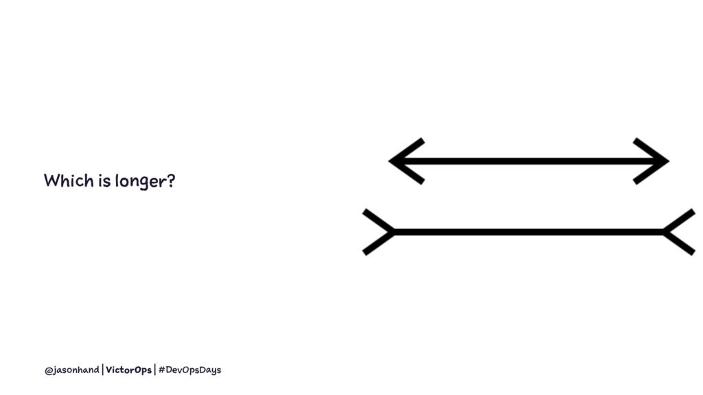 Which is longer? @jasonhand | VictorOps | #DevO...
