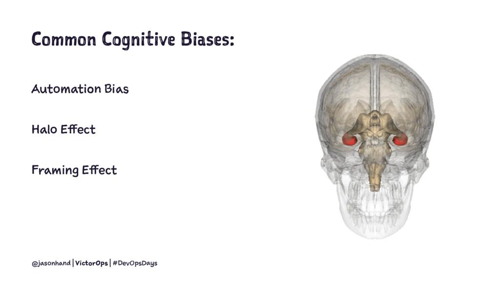 Common Cognitive Biases: Automation Bias Halo E...