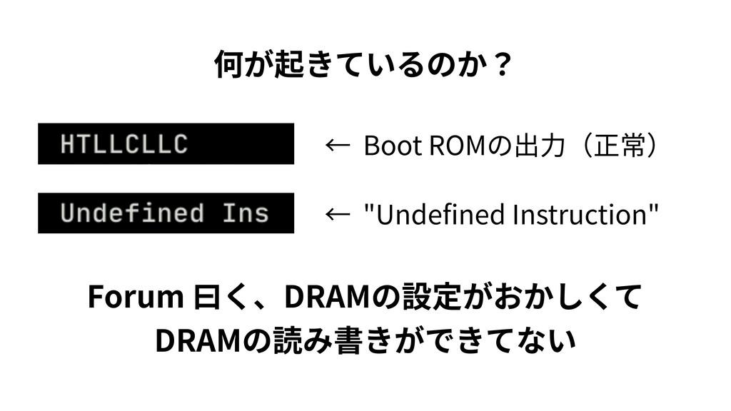 "Boot ROM ""Unde ned Instruction"" Forum DRAM DRAM"