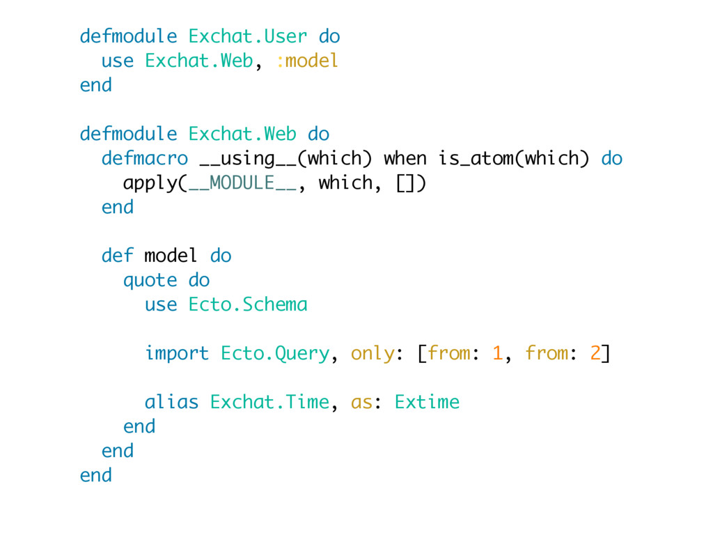 defmodule Exchat.User do use Exchat.Web, :model...