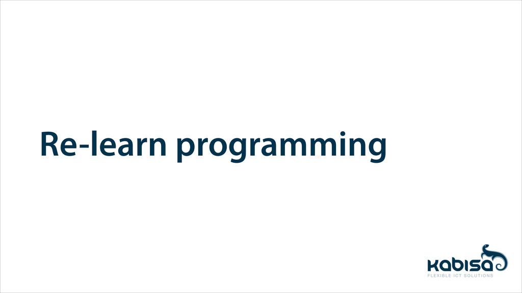 Re-learn programming