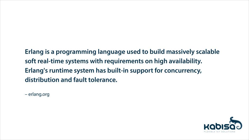 – erlang.org Erlang is a programming language u...