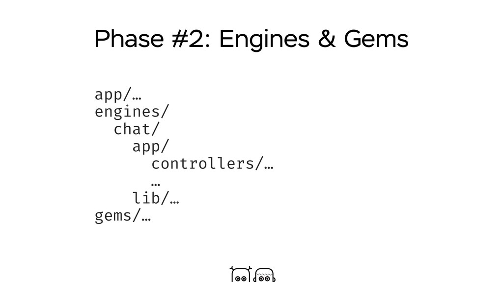 Phase #2: Engines & Gems app/… engines/ chat/ a...