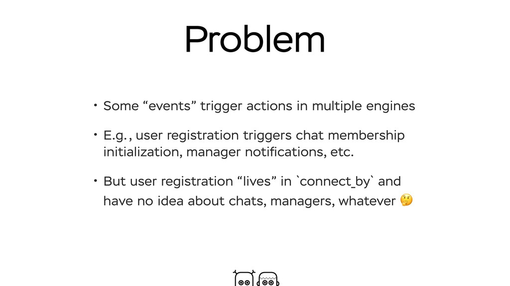 "Problem • Some ""events"" trigger actions in mult..."