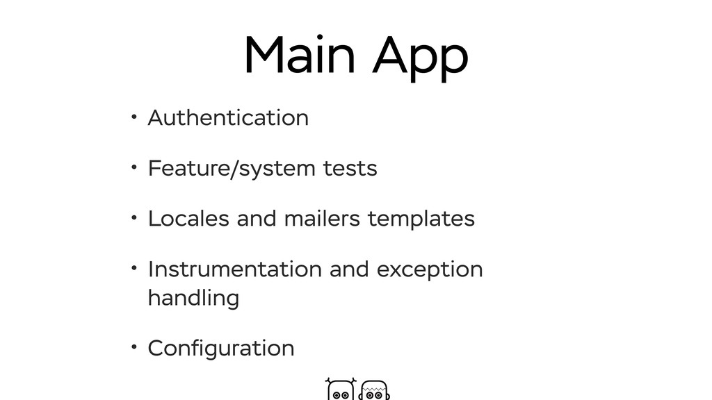 Main App • Authentication • Feature/system test...