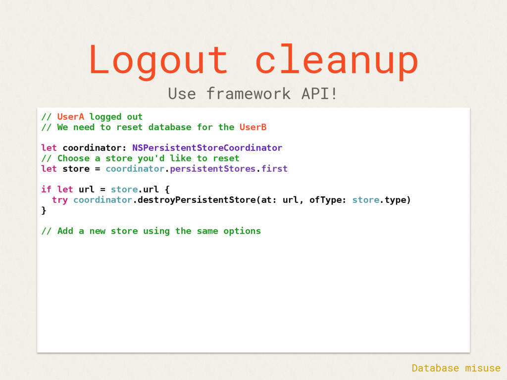 Logout cleanup // UserA logged out // We need t...