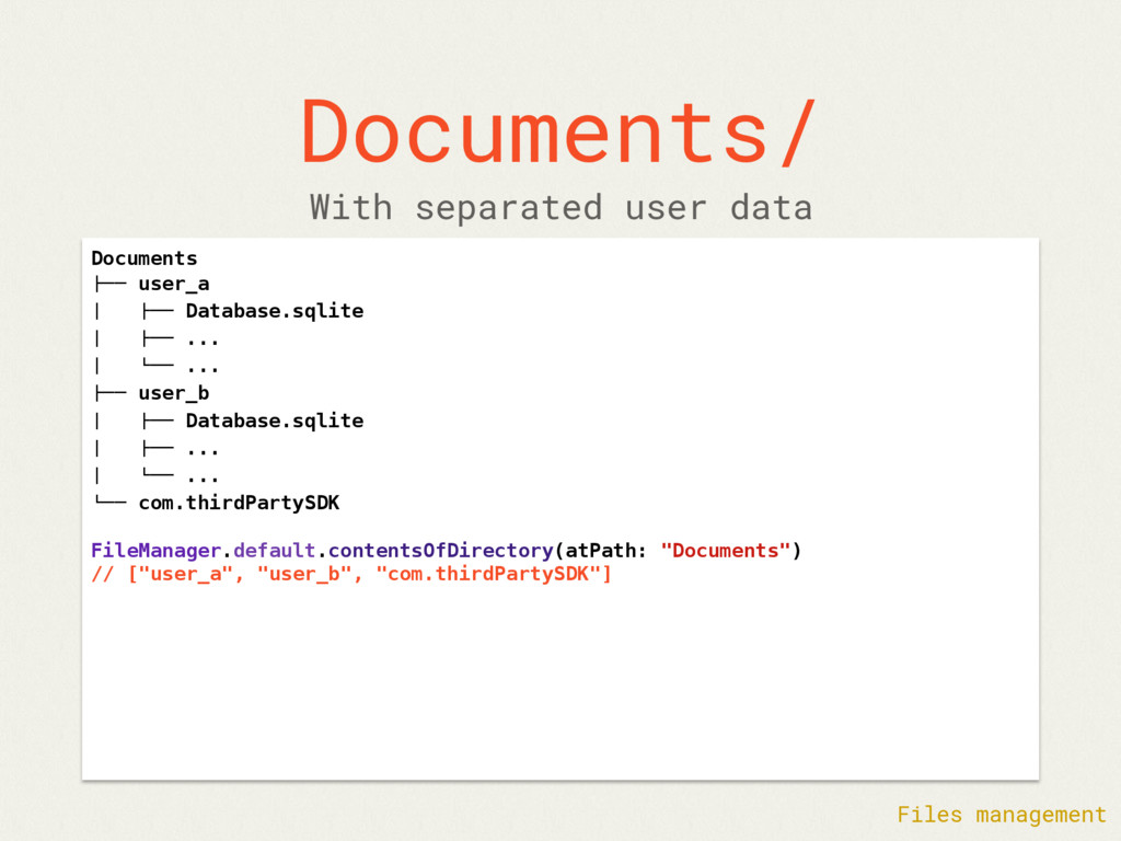 "Documents/ Documents !"""" user_a $ !"""" Database...."