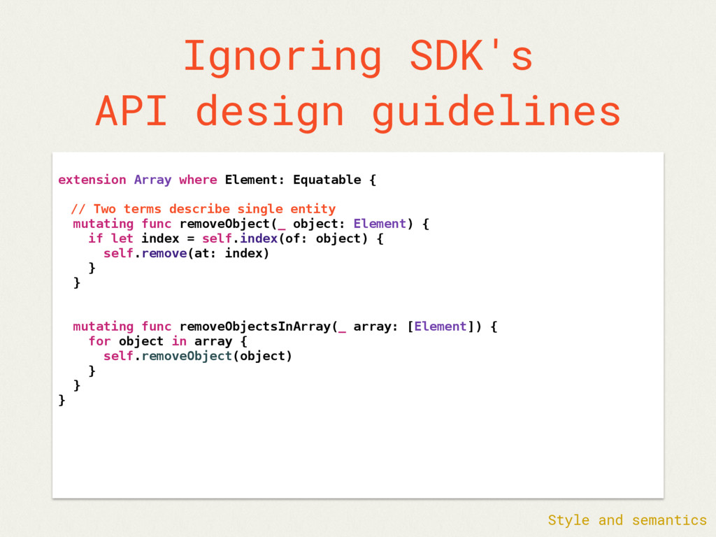 Ignoring SDK's API design guidelines extension ...