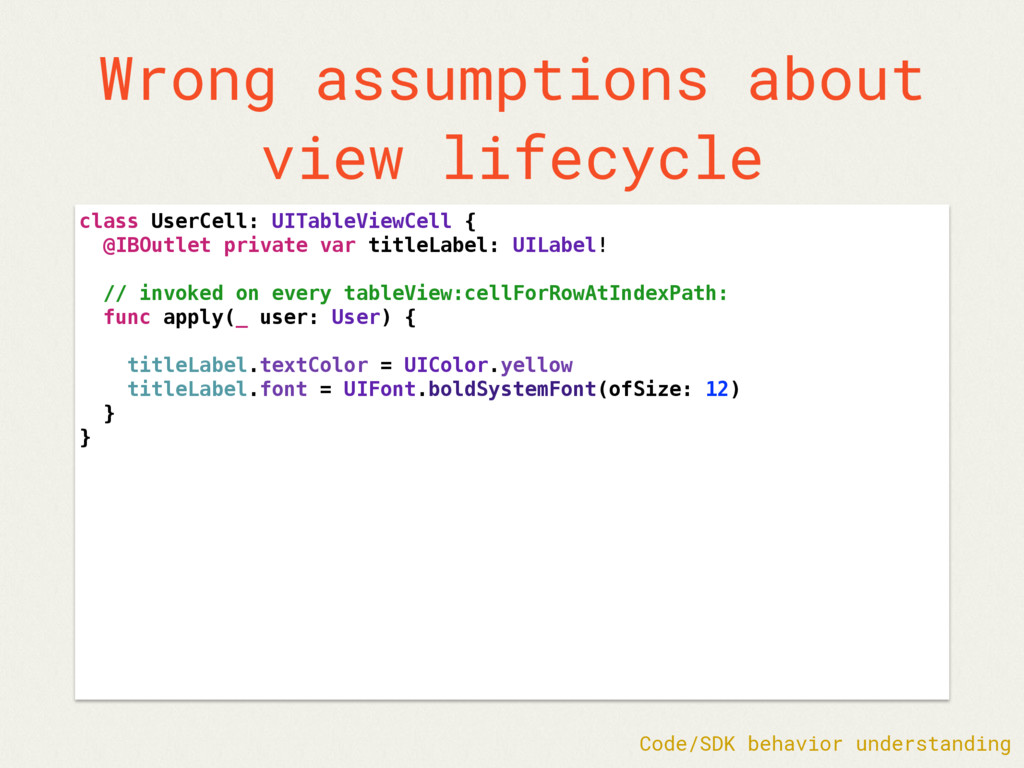 Wrong assumptions about view lifecycle class Us...