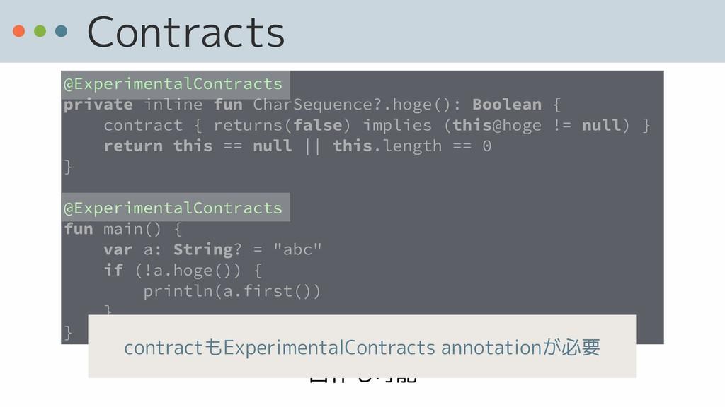 自作も可能 Contracts @ExperimentalContracts private ...