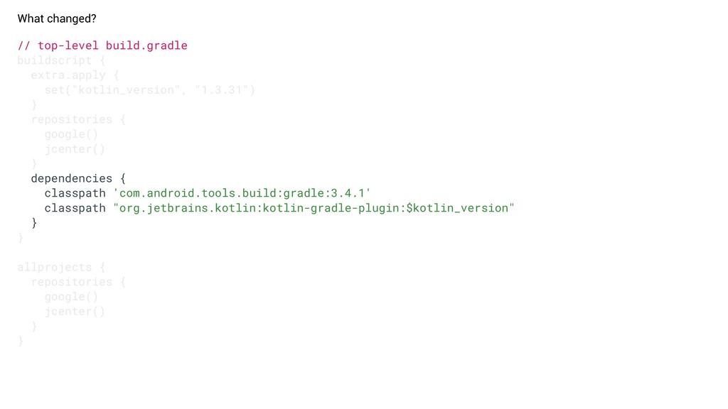// top-level build.gradle buildscript { extra.a...