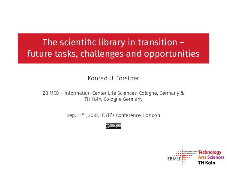The scientific library in transition – future ta...