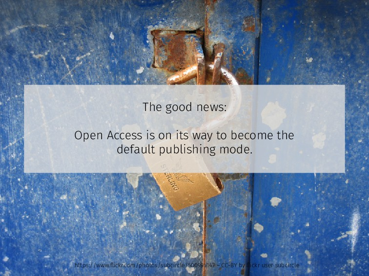 The good news: Open Access is on its way to bec...