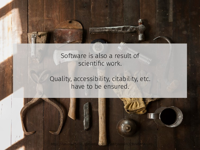 Software is also a result of scientific work. Qu...