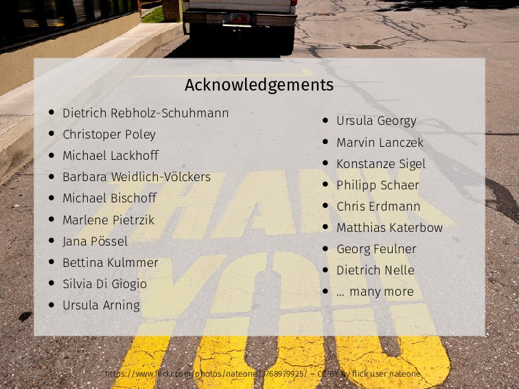 Acknowledgements • Dietrich Rebholz-Schuhmann •...