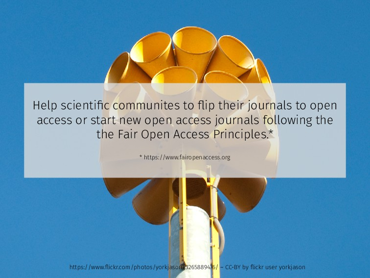 Help scientific communites to flip their journals...