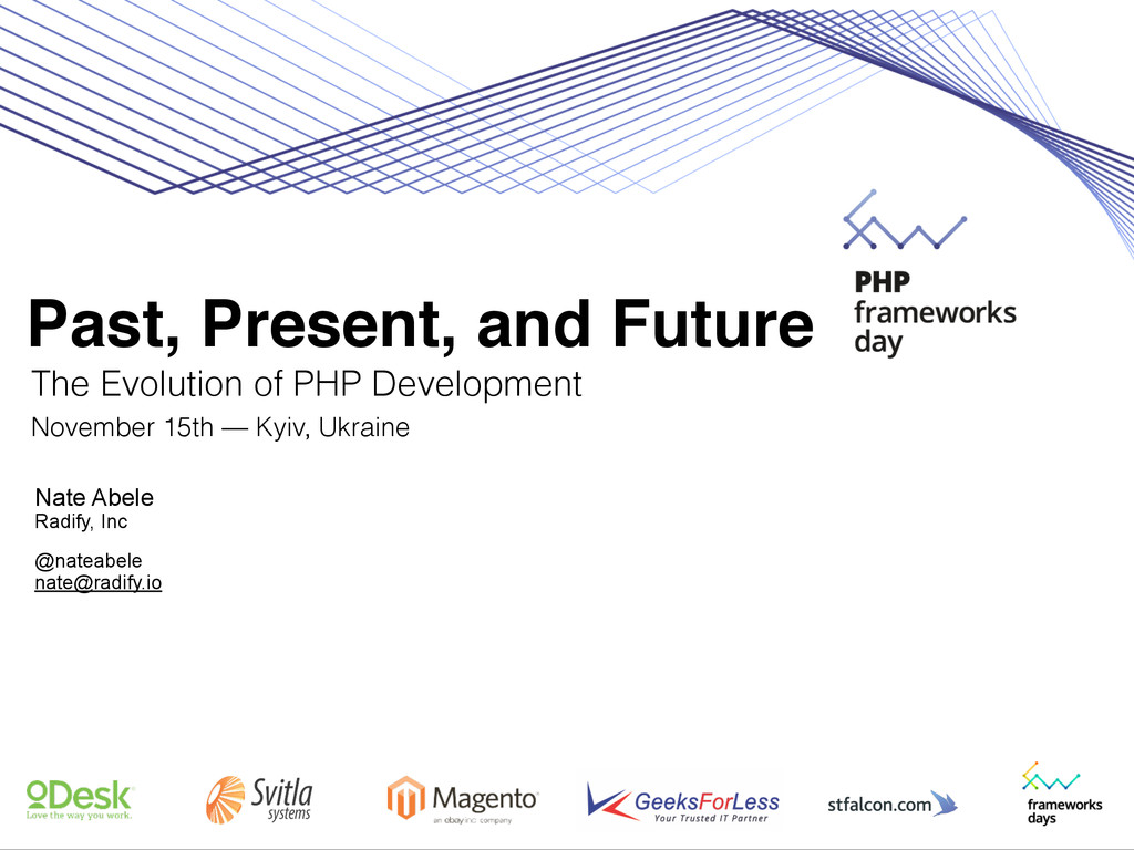 Past, Present, and Future The Evolution of PHP ...