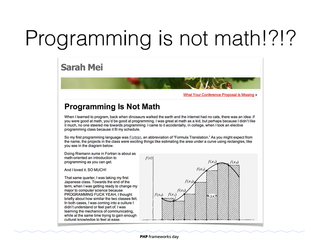 Programming is not math!?!?