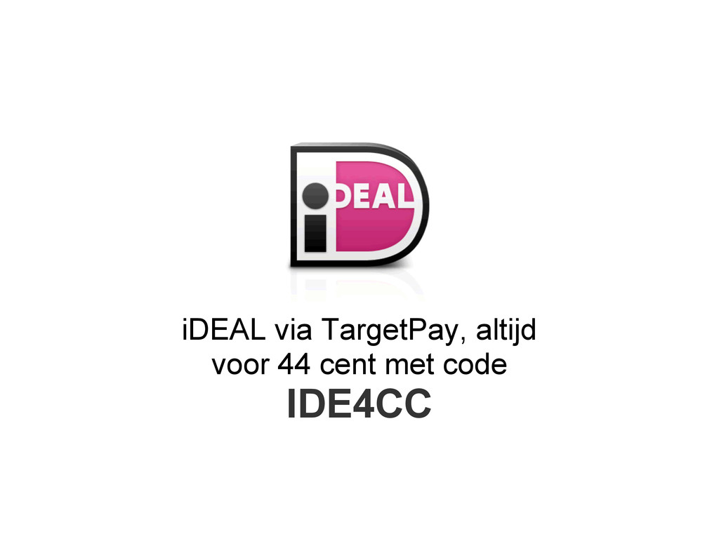 iDEAL via TargetPay, altijd voor 44 cent met co...