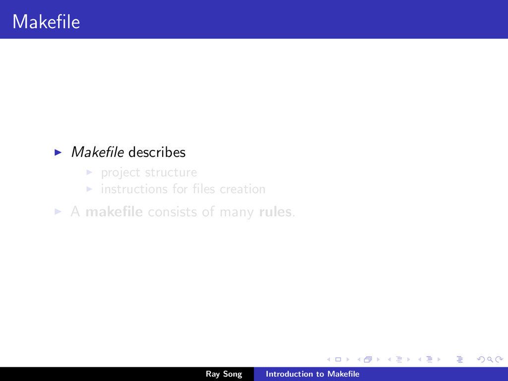 Makefile Makefile describes project structure ins...