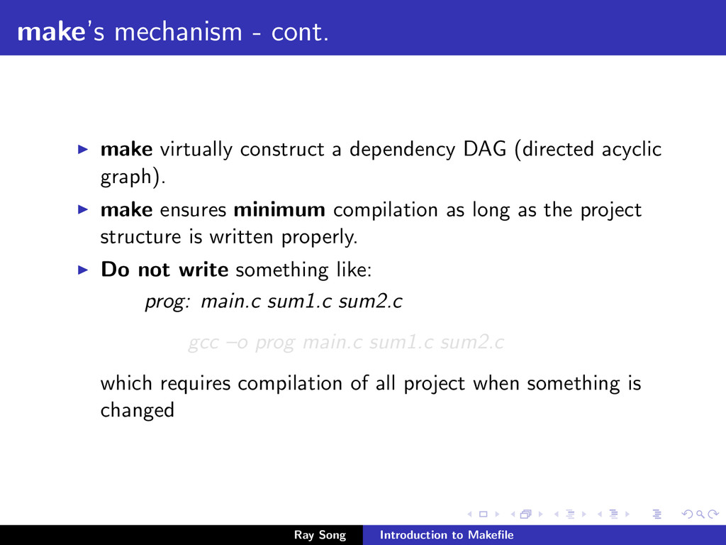 make's mechanism - cont. make virtually constru...