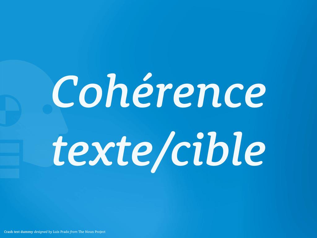 Cohérence texte/cible Crash test dummy designed...