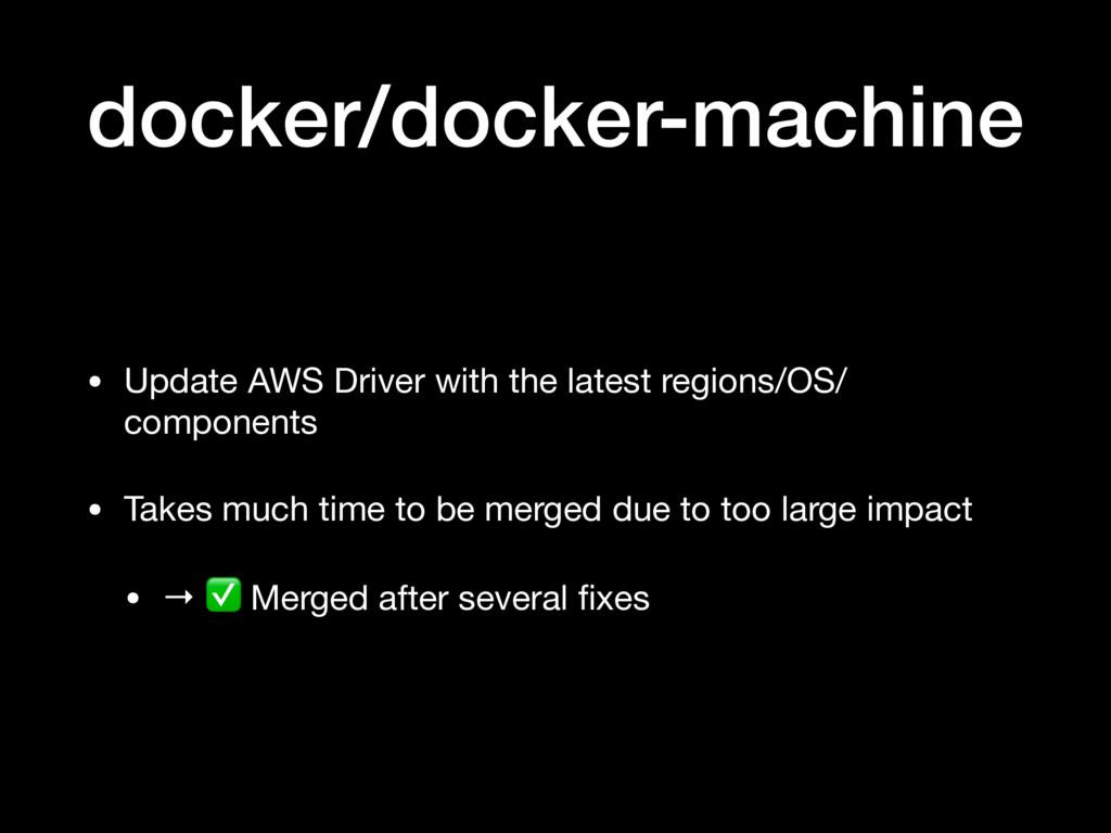 docker/docker-machine • Update AWS Driver with ...